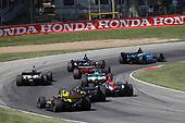 Zach Veach, Andretti Autosport Honda, James Hinchcliffe, Arrow Schmidt Peterson Motorsports Honda