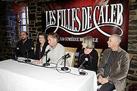 montreal (qc) Canada - dec 2<br />  2009,-  Michel Rivard,arlette cousture,Paul Dupont-Hebert, Micheline Lanctot, ? Roussel<br /> ,<br /> les filles de caleb - la comedie musicale press conference