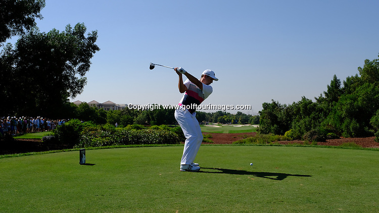 Sergio Garcia (ESP) during round two of the 2016 DP World Tour Championships played over the Earth Course at Jumeirah Golf Estates, Dubai, UAE: Picture Stuart Adams, www.golftourimages.com: 11/18/16