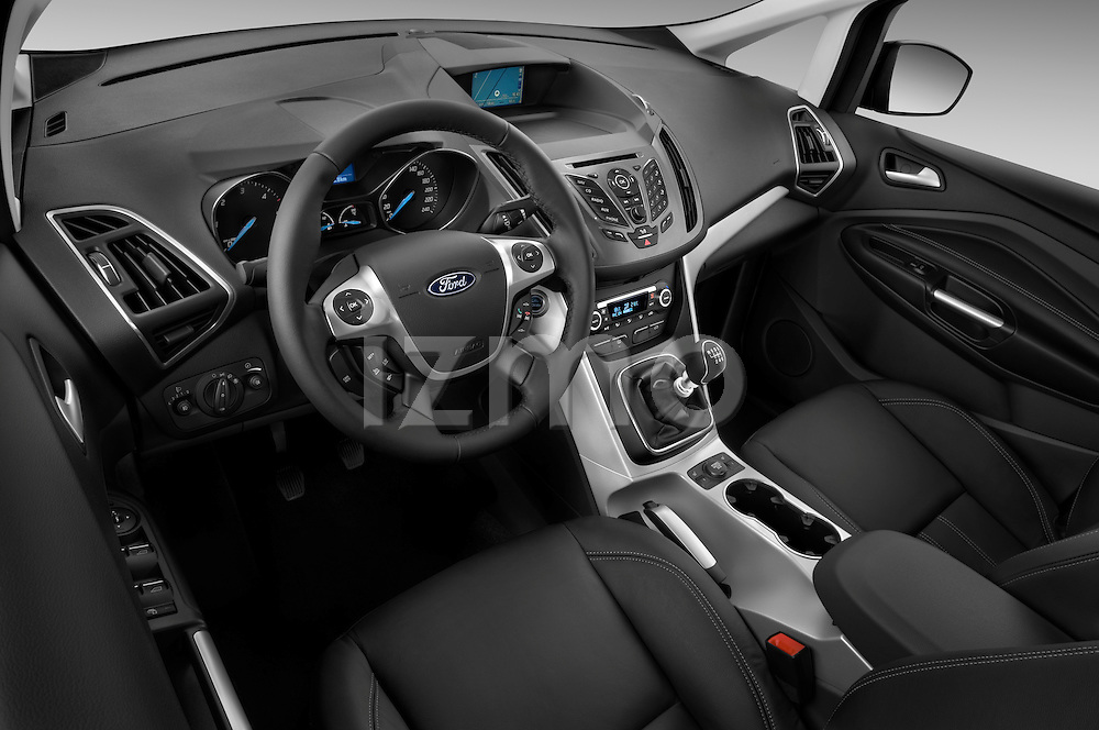 High angle dashboard view of a 2011 Ford Grand C-Max Titanium Mini MPV