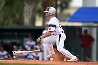 University of the Sciences Devils outfielder Mike Pollastrelli (24) at bat during a game against Slippery Rock on March 6, 2015 at Jack Russell Memorial Stadium in Clearwater, Florida.  Slippery Rock defeated University of the Sciences 6-3.  (Mike Janes/Four Seam Images)
