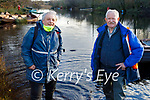 Pat Kenneally and Ger Casey from Killarney ready to take to the water in Ross Castle, Killarney  on Saturday.