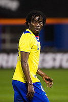 Juan Carlos Paredes (4) of Ecuador. Ecuador defeated Chile 3-0 during an international friendly at Citi Field in Flushing, NY, on August 15, 2012.