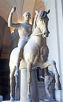 Greek Art:  Equestrian Statue.  National Museum, Naples.  Photo '83.
