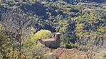 El Barida. Poble de Cava. Mirador. Alt Urgell. Vista esglesia de St. Climent