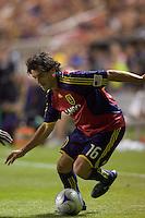 Real Salt Lake forward Fabian Espindola (16). Real Salt Lake tied the Colorado Rockies, 1-1, at Rio Tinto Stadium on June 6, 2009.