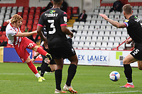 Arthur Read of Stevenage F.C. shoots wide during Stevenage vs Salford City, Sky Bet EFL League 2 Football at the Lamex Stadium on 3rd October 2020