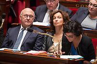 MICHEL SAPIN, AUDREY AZOULAY, MYRIAM EL KHOMRI - ASSEMBLEE NATIONALE - SEANCE DE QUESTIONS AU GOUVERNEMENT