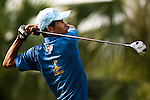 SHENZHEN, CHINA - OCTOBER 29:  Phetsamone Seesomwang of Laos plays his tee shot on the 18th hole during the day one of Asian Amateur Championship at the Mission Hills Golf Club on October 29, 2009 in Shenzhen, Guangdong, China.  (Photo by Victor Fraile/The Power of Sport Images) *** Local Caption *** Phetsamone Seesomwang