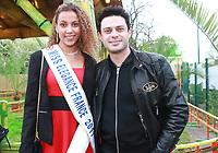 LIVIA HOARAU, Miss Elegance 2017 & GREGORY BAKIAN - Soirée d'inauguration de la foire du trône 2017 - Paris, France - 31/03/2017