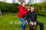 TJ and Mary O'Riordan at home in Abbeyfeale, as TJ is cutting his hair on Valentine's Day as a fundraiser for the Irish Cancer Society.