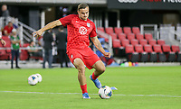WASHINGTON, D.C. - OCTOBER 11: Jordan Morris #11 of the United States warming up during their Nations League match versus Cuba at Audi Field, on October 11, 2019 in Washington D.C.