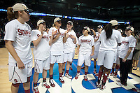 SPOKANE, WA - MARCH 28, 2011: Stanford Women's Basketball vs Gonzaga, NCAA West Regional Finals at the Spokane Arena on March 28, 2011.