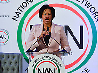 Washington, DC - January 20, 2020:  Mayor Muriel Bowser (D-DC) speaks during a breakfast hosted by the National Action Network honoring the legacy of Dr. Martin Luther King, Jr on MLK Day January 20, 2020 at the Mayflower Hotel in Washington, DC.  (Photo by Don Baxter/Media Images International)
