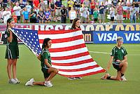 U.S Flag...USWNT tied Sweden 1-1 at Morrison Stadium, Omaha Nebraska.