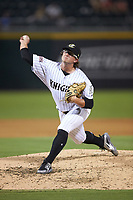 Charlotte Knights relief pitcher Carson Fulmer (19) in action against the Buffalo Bison at BB&T BallPark on August 14, 2018 in Charlotte, North Carolina. The Bison defeated the Knights 14-5.  (Brian Westerholt/Four Seam Images)