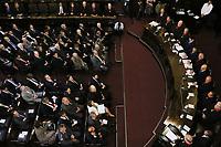 SÃO PAULO, SP, 06.02.2019: POLÍTICA-SP: Cauê Macris, Deputado Estadual e Presidente da Assembléia Legislativa do Estado de São Paulo, João Doria, Governador de São Paulo, Manoel de Queiroz Pereira Calças, Desembargador e Presidente do Tribunal de Justiça de São Paulo e Alexandre de Moraes, Ministro do Supremo Tribunal Federal, participam da abertura do Ano Judiciário, no Tribunal de Justiça, nesta quarta-feira, 6. ( Foto: Charles Sholl/Brazil Photo Press/Folhapress)