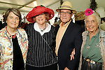 From left: Judy Boyce, Ann Hamilton, Joe Nelson and Terry Hershey at the Hermann Park Conservancy Hat Party Tuesday March 9,2010. (Dave Rossman Photo)