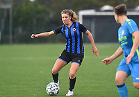 Brugge's Talitha De Groote pictured in action during a female soccer game between the women teams of Club Brugge YLA Dames and Union Saint-Ghislain Tertre-Hautrage Ladies on the 1/16 th qualifying round for the Belgian Womens Cup 2020  2021 , on saturday 26 th of September 2020  in Brugge , Belgium . PHOTO SPORTPIX.BE | SPP | DAVID CATRY