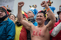 proud fans - Eli Iserbyt (BEL/Marlux-Bingoal) winning the World Championships title <br /> <br /> Men U23 Race<br /> UCI CX Worlds 2018<br /> Valkenburg - The Netherlands