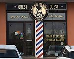 Barber Shop and Wisky Bar  in Reykjavik, Iceland.  (Bob Gathany)