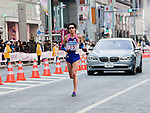 Feb. 27, 2010 - Tokyo, Japan - A runner of Japan is seen passing through the Ginza district shortly after the start of the Tokyo Marathon. Some 36,000 runners participated in this fifth edition of the marathon.