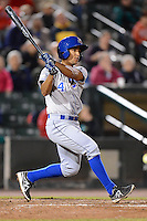 Durham Bulls second baseman Cole Figueroa #4 during a game against the Rochester Red Wings on May 17, 2013 at Frontier Field in Rochester, New York.  Rochester defeated Durham 11-6.  (Mike Janes/Four Seam Images)