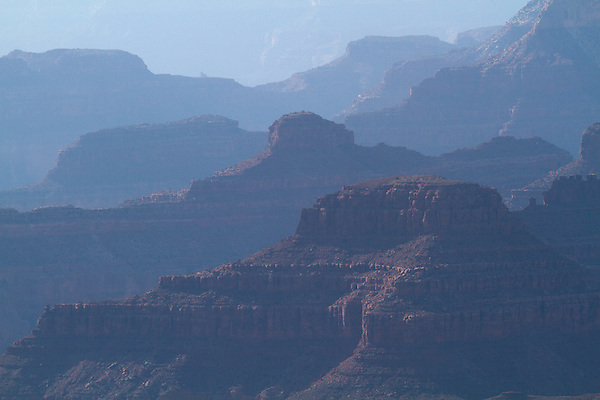 Backlit South Rim of Grand Canyon National Park, Arizona .  John offers private photo tours in Grand Canyon National Park and throughout Arizona, Utah and Colorado. Year-round.
