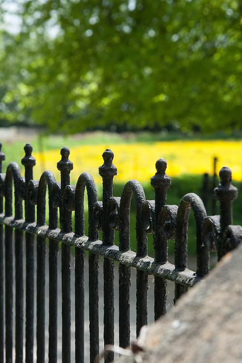 Wrought iron fence, Rousham House and Garden.