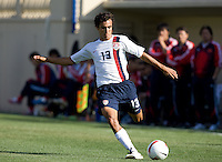 Jonathan Bornstein prepares to cross the ball. The USA defeated China, 4-1, in an international friendly at Spartan Stadium, San Jose, CA on June 2, 2007.