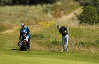 140719 | The 148th Open - Sunday Practice<br /> <br /> Jimmy Walker plays from the rough on the 17th during practice for the 148th Open Championship at Royal Portrush Golf Club, County Antrim, Northern Ireland. Photo by John Dickson - DICKSONDIGITAL