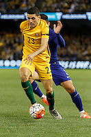 June 7, 2016: TOMAS ROGIC (23) of Australia controls the ball during an international friendly match between the Australian Socceroos and Greece at Etihad Stadium, Melbourne. Photo Sydney Low