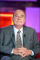--EXCLUSIF-- JACQUES CHIRAC - ENREGISTREMENT DE L'EMISSION ' VIVEMENT DIMANCHE ' .