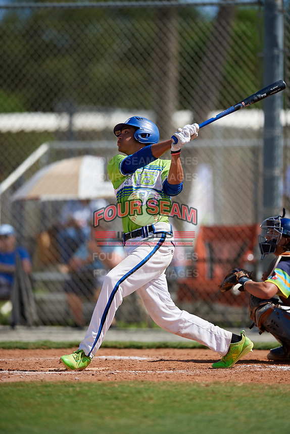 JJ Gonzalez-Molina during the WWBA World Championship at the Roger Dean Complex on October 20, 2018 in Jupiter, Florida.  JJ Gonzalez-Molina is a shortstop from Haines City, Florida who attends Winter Haven Senior High School and is committed to UCF.  (Mike Janes/Four Seam Images)