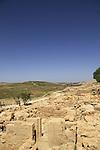Samaria, ruins from the Roman-Byzantine period in Tel Shiloh