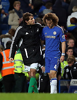 Wednesday 09 January 2013<br /> Pictured: Michu (L) and David Luiz (R). <br /> Re: Capital One Cup semifinal, Chelsea FC v Swansea City FC at the Stamford Bridge Stadium, London.