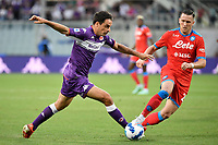 Giacomo Bonaventura of ACF Fiorentina and Piotr Zielinski of SSC Napoli compete for the ball during the Serie A 2021/2022 football match between ACF Fiorentina and SSC Napoli at Artemio Franchi stadium in Florence (Italy), October 3rd, 2021. Photo Andrea Staccioli / Insidefoto