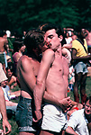 Gay Pride Parade after the march through Manhattan, a love in in Central Park Manhattan  New York USA 1981