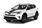 2018 Toyota RAV4 Adventure 5 Door SUV angular front stock photos of front three quarter view