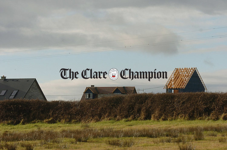 A view of the new housing development in progress at Querrinn. Photograph by John Kelly.