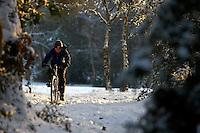Josh on Isla Bike ..Wentworth Snow , Surrey  January 2010..