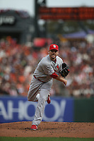SAN FRANCISCO, CA - OCTOBER 14:  John Lackey of the St. Louis Cardinals pitches against the San Francisco Giants during Game 3 of the National League Championship Series at AT&T Park on Tuesday, October 14, 2014 in San Francisco, California. Photo by Brad Mangin