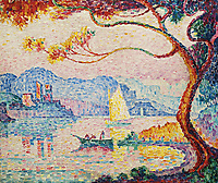 Signac, Paul (1863-1935), Antibes, Petit Port de Bacon, Oil on canvas, 54,5x64, Painting, 1917, France, Private Collection.