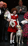 Anthony Watlow, Lilla Crawford, Sunny & Merwin Foard during the Broadway Opening Night Performance Curtain Call for 'Annie' at the Palace Theatre in New York City on 11/08/2012