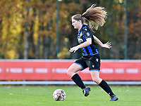 Raquel Viaene (5 Brugge) pictured during a female soccer game between Standard Femina de Liege and Club Brugge YLA on the seventh matchday of the 2020 - 2021 season of Belgian Scooore Womens Super League , saturday 14 th of November 2020  in Angleur , Belgium . PHOTO SPORTPIX.BE | SPP | DAVID CATRY