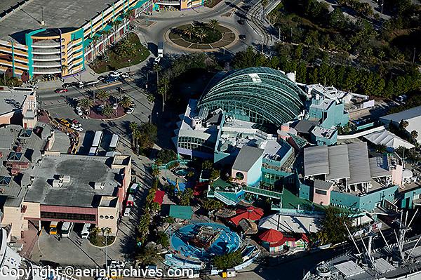 aerial photograph of the Florida Aquarium Tampa, Florida