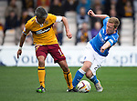 Motherwell v St Johnstone...30.08.14  SPFL<br /> Keith Lasley and Scott Brown<br /> Picture by Graeme Hart.<br /> Copyright Perthshire Picture Agency<br /> Tel: 01738 623350  Mobile: 07990 594431