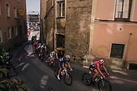 Entering the base of the Höll Climb <br /> <br /> MEN ELITE ROAD RACE<br /> Kufstein to Innsbruck: 258.5 km<br /> <br /> UCI 2018 Road World Championships<br /> Innsbruck - Tirol / Austria