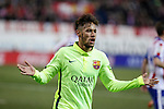 Barcelona´s Neymar Jr celebrates a goal during Copa del Rey `Spanish King Cup´ soccer match at Vicente Calderon stadium in Madrid, Spain. January 28, 2015. (ALTERPHOTOS/Victor Blanco)