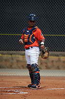 GCL Astros catcher Ruben Castro (17) during a game against the GCL Braves on July 23, 2015 at the Osceola County Stadium Complex in Kissimmee, Florida.  GCL Braves defeated GCL Astros 4-2.  (Mike Janes/Four Seam Images)